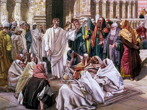 gesù parla ai farisei